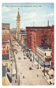 Sixteenth Street From Glenarm Street, Denver, Colorado, 1900-1910s