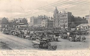 South Africa Johannesburg, Market Square, Carriages 1907