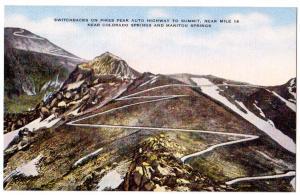 Switchbacks on Pikes Peak, Colorado Spr CO