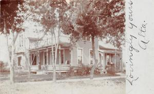 Minnesota Lake MN~Alta's House~Victorian Front & Back Porch~1909 RPPC