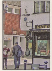 Help The Aged Shop Market Square Street Hitchin Herts Postcard
