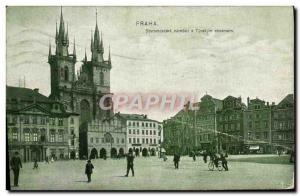Postcard Old Praha Staromestske namesti Tynskym chramem