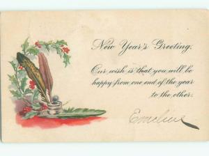 Divided-Back NEW YEAR SCENE Great Postcard AA1858