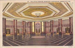 The Little Theater Municipal Auditorium Kansas City Missouri 1943