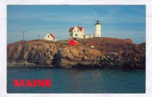 Nubble Lighthouse, Cape Neddick, York, Maine, 40-60s