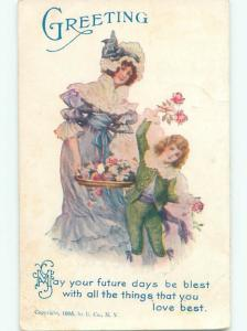 Divided-Back PRETTY WOMAN Risque Interest Postcard AA8331