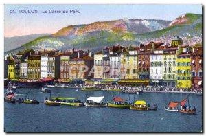 Old Postcard Toulon Le Carre du Port