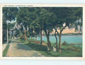 Unused W-Border LAKE HOWARD Winter Haven Florida FL HM8189