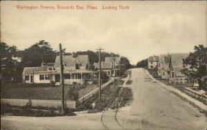 Buzzards Bay Cape Cod MA Washington Ave c1910 Postcard