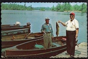 British Columbia Greetings from LANGLEY Fishermen older Cedar Fishing Boats - C