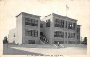 E5/ St Cloud Florida Fl Postcard 1925 New High School Building