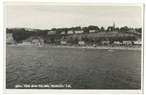 Isle of Wight, View From The Sea, Shanklin RP PPC Unposted by Nigh