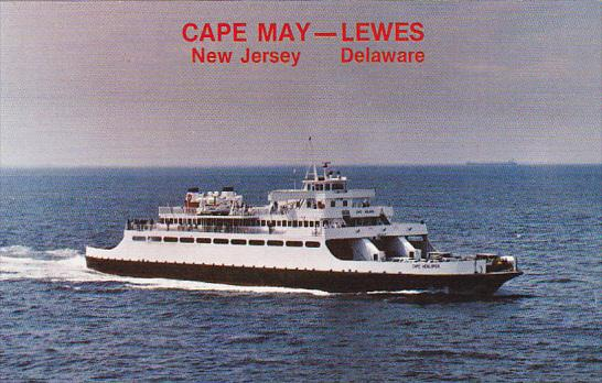 Cape May New Jersey to Lewes Delaware Ferry