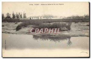 Postcard Old Vichy Edges of & # 39Allier and Pigeon Shooting