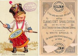 Victorian Trade Card Approx size inches = 3 x 4.5 Pre 1900 paper wear on back...