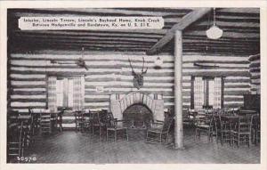 Kentucky Knob Creek Interior Lincoln Tavern Lincolns Boyhood Home Dexter Press