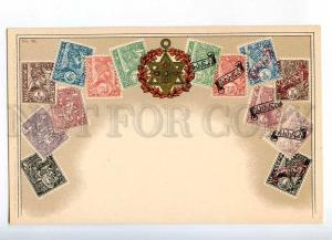 231977 Ethiopia Coat of arms STAMPS Vintage Zieher postcard