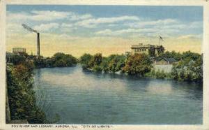 Fox River & Library Aurora IL Unused