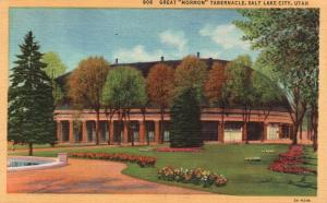Salt Lake City, Utah, UT, Great Mormon Tabernacle, 1947 Vintage Postcard f6156