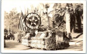 Vintage Portland Oregon RPPC Postcard American Legion Float Rose Parade c1920s