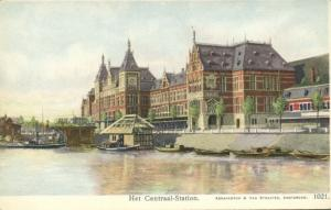 netherlands, AMSTERDAM, Centraal Railway Station, Architect Pierre Cuypers