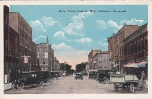 Old Cars On Main Street Looking West Chanute Kansas sk69