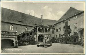 Germany - Nurnberg, Castle Courtyard  *RPPC