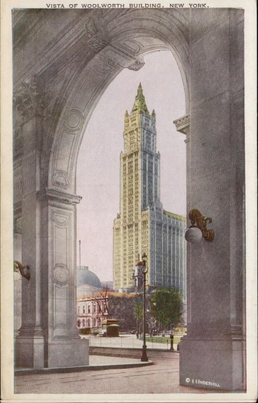 Vista of Woolworth Building New York