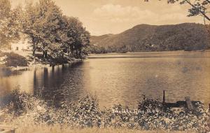 Tyson Vermont Echo Lake Waterfront Real Photo Antique Postcard K88269