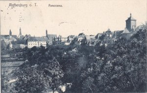 ROTHENBURG O.T., Bavaria, Germany, PU-1906; Panorama