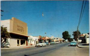MORRO BAY, CA  California  STREET SCENE Variety Store   c1950s Cars  Postcard