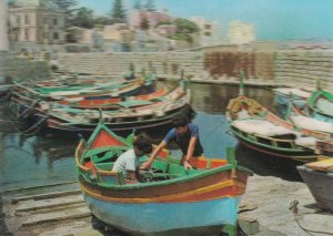 St Pauls Bay Fishing Harbour 3D Three Dimensional Postcard