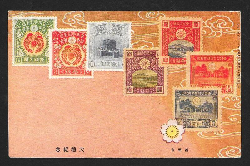 JAPAN Stamps on Postcard Used c1938 Netherlands to USA