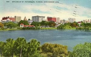 FL - St. Petersburg. Skyline and Mirror Lake