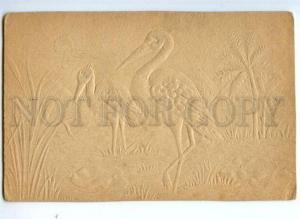 175970 HERON in Sun Vintage EMBOSSED card