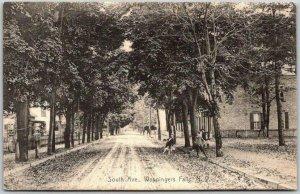 1908 Wappingers Falls, New York Postcard South Avenue Downtown Street Scene