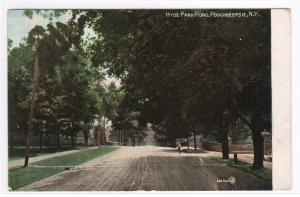 Hyde Park Road Poughkeepsie New York 1908 postcard
