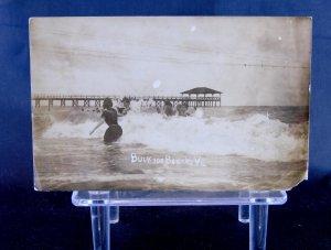 Buckroe Beach, VA - Swimming - RPPC - Virginia
