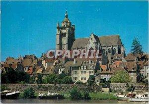 Modern Postcard Dole (Jura) Franche Comte Artistic boat trip on the Canal du ...