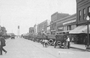 Bemidji Minnesota Street Scene Business Section Real Photo Postcard JI658544
