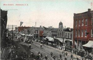 H7/ Aberdeen South Dakota Postcard c1910 Main Street Parade Stores