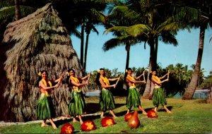 Hawaii Honolulu Beautiful Hula Dancers 1970
