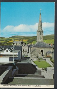 Scotland Postcard - Steeple & Scott Monument From New Town, Selkirk RS6000