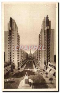 Villeurbanne Old Postcard New center & # 39urbanisme avenue of the city & # 3...