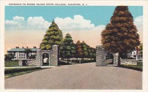 Entrance To Rhode Island State College Kingston Rhode Island