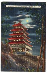 Reading, Pa, Pagoda On Mt. Penn At Night