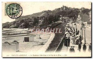 Old Postcard Sainte Adresse The Maritime Boulevard and Cape of Heve