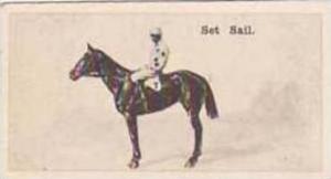 Wills Vintage Cigarette Card New Zealand Race Horses 1928 No 25 Set Sail