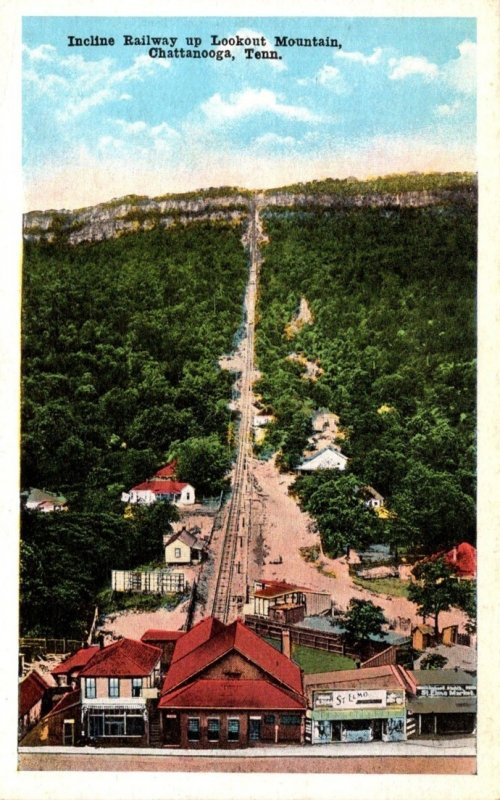 Tennessee Chattanooga Incline Railway Up Lookout Mountain