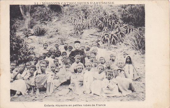 Enfants Abyssins en Petites robes de France , Ethiopia , 20-30s